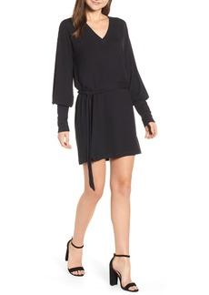 Paige Denim PAIGE Raschel Belted Sweatshirt Dress