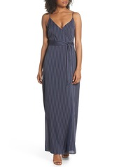 PAIGE Regina Stripe Maxi Wrap Dress