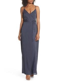 Paige Denim PAIGE Regina Stripe Maxi Wrap Dress
