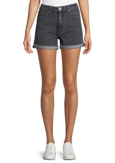 Paige Denim Sarah High-Rise Denim Shorts