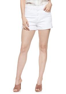 Paige Denim PAIGE Sarah High Waist Denim Shorts (Lived In Crisp White)