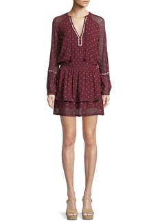 Paige Denim PAIGE Shanti V-Neck Chiffon Short Dress