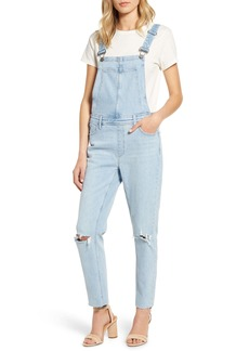 PAIGE Sierra Ripped Skinny Overalls
