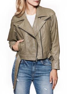 Paige Denim PAIGE Sivan Leather Moto Jacket