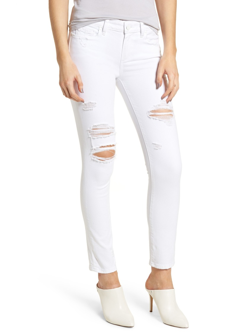 d1c94b9a559 Paige Denim PAIGE Skyline Ripped Ankle Skinny Jeans (Bright White  Destructed)