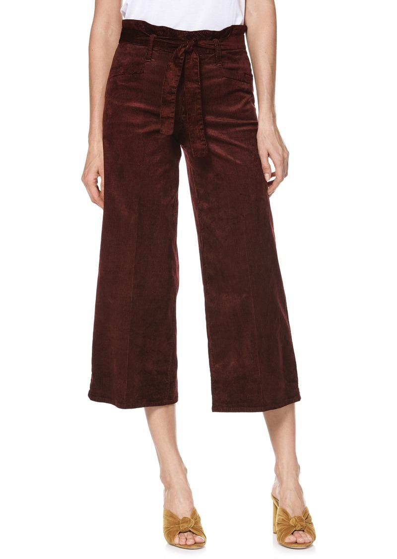PAIGE Sutton Paperbag Crop Wide Leg Corduroy Pants