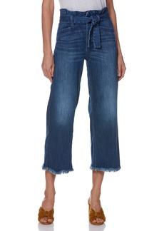 Paige Denim PAIGE Sutton Paperbag High Waist Crop Wide Leg Jeans (Marcielle)