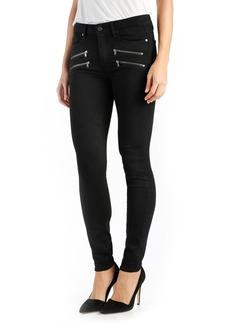 Paige Denim PAIGE Transcend - Edgemont High Rise Ultra Skinny Jeans (Black Shadow)