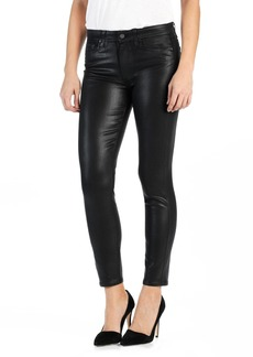 Paige Denim PAIGE Transcend - Hoxton High Waist Ankle Skinny Jeans (Luxe Black Coated)