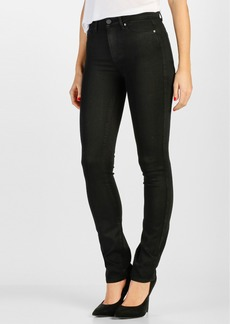Paige Denim PAIGE Transcend - Hoxton High Waist Straight Leg Jeans (Black Shadow)