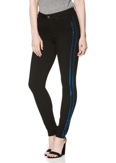Paige Denim PAIGE Transcend - Hoxton High Waist Ultra Skinny Jeans (Black Shadow with Blue Stripes)
