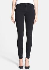 Paige Denim PAIGE Transcend - Hoxton High Waist Ultra Skinny Stretch Jeans (Black Shadow)