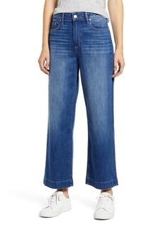 PAIGE Transcend - Nellie High Waist Crop Culotte Jeans (Laki)