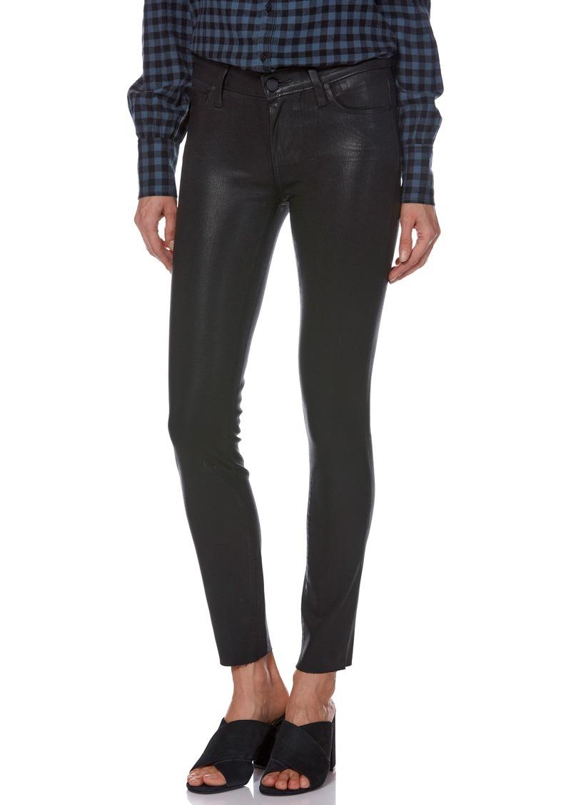 PAIGE Transcend - Verdugo Ankle Skinny Jeans (Black Fog Luxe Coating)
