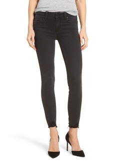 Paige Denim PAIGE Transcend - Verdugo Ankle Skinny Jeans (Black Fog Super Distressed)