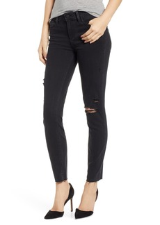 Paige Denim PAIGE Transcend - Verdugo Ankle Skinny Jeans (Faded Noir Destructed)