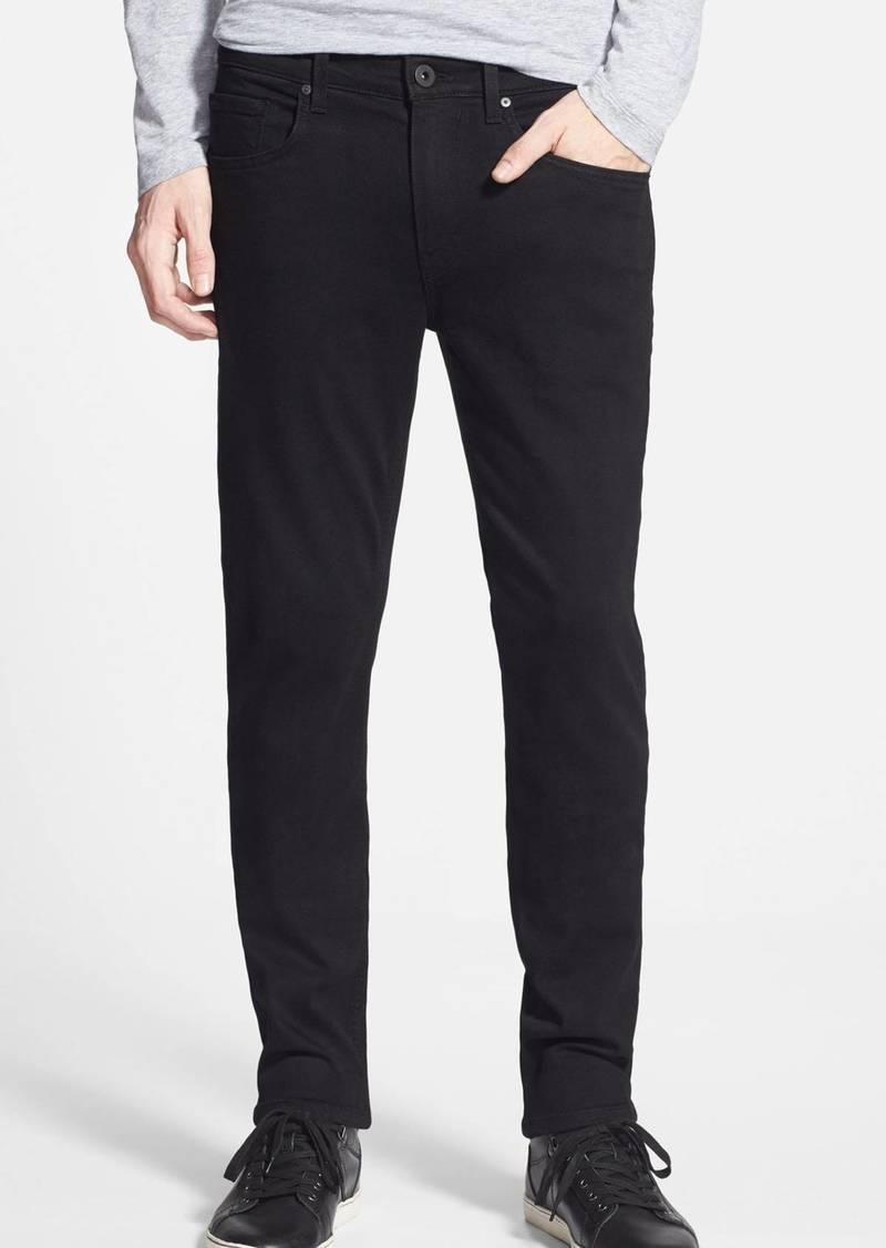 PAIGE Transcend – Lennox Slim Fit Jeans (Black Shadow)