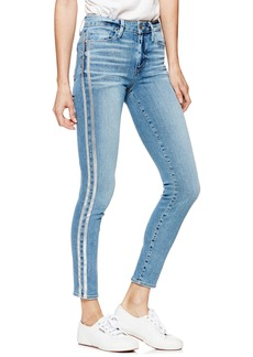 Paige Denim PAIGE Transcend Vintage - Hoxton High Waist Ankle Skinny Jeans (Soto with Silver Racing Stripe)