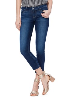 PAIGE Transcend Vintage - Skyline Raw Hem Crop Skinny Jeans (Greece)