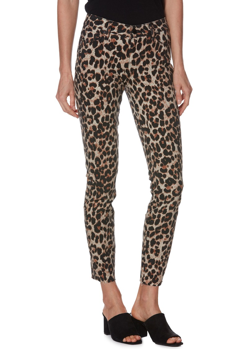 PAIGE Verdugo Ankle Skinny Jeans (Sahara Leopard)
