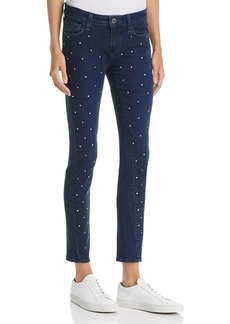 Paige Denim PAIGE Verdugo Embellished Ultra-Skinny Jeans in Indigo Krystal