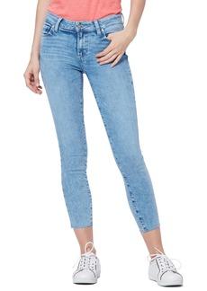 PAIGE Verdugo Raw Hem Crop Skinny Jeans (Aloha)