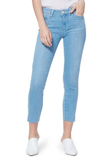 PAIGE Verdugo Side Slit Crop Skinny Jeans (Hula Distressed)