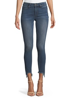 Paige Denim Verdugo Skinny Ankle Jeans with Torn Fray Hem