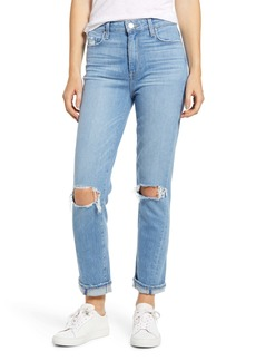 PAIGE Vintage - Hoxton Ripped High Waist Ankle Slim Jeans (Camina Destructed)