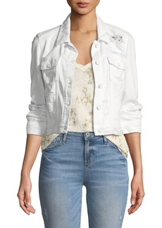 Paige Denim Vivienne Button-Front Denim Jacket