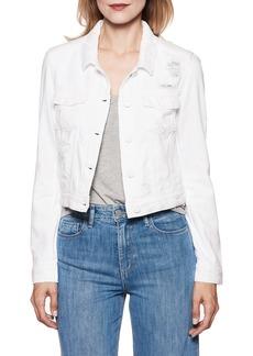 Paige Denim PAIGE Vivienne Denim Jacket (Ultra White Destructed)