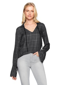 Paige Denim PAIGE Women's Calissa Shirt Peacoat/Gunmetal  S