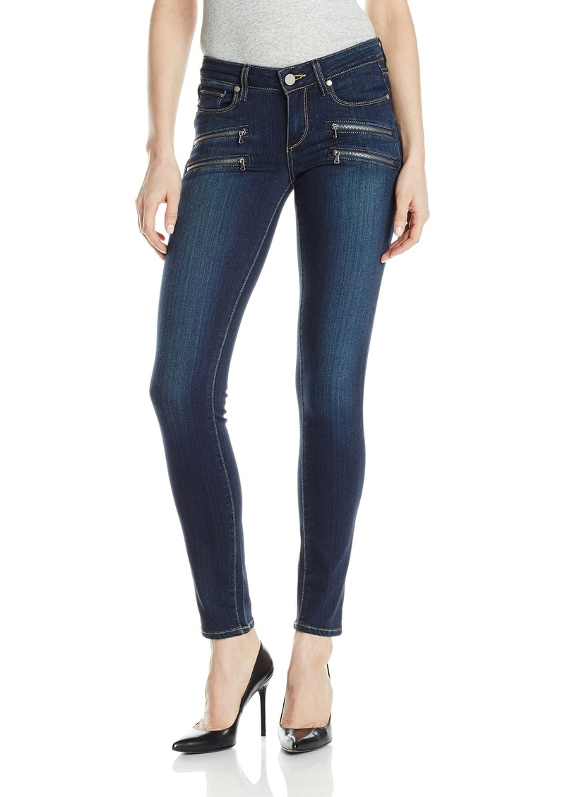 PAIGE Women's Edgemont Double Zip Skinny Jean