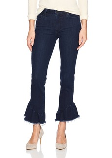 Paige Denim PAIGE Women's Flora Straight Jeans Merritt with Ruffle Detail
