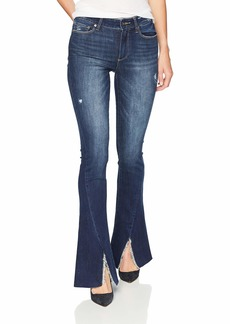 Paige Denim PAIGE Women's High Rise Lou Flare with Twisted Seam + Raw Hem