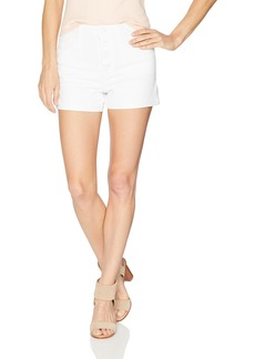 Paige Denim PAIGE Women's High Rise Sarah Shorts with Exposed Button Fly + Raw Hem