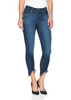 PAIGE Women's Hoxton Ankle Petite Jeans Auburn w/Arched Hem