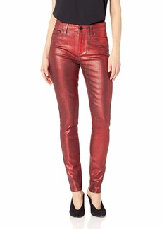 PAIGE Women's Hoxton Ultra Skinny Jeans red Galaxy Coating