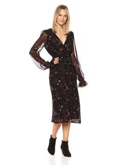 Paige Denim PAIGE Women's Lilou Midi Dress  L