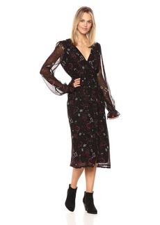 PAIGE Women's Lilou Midi Dress  XL