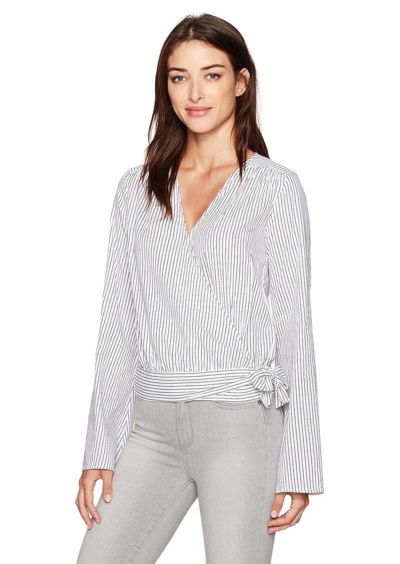 PAIGE Women's Marianna Blouse Black/White Stripe S