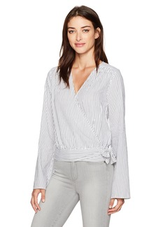 Paige Denim PAIGE Women's Marianna Blouse Black/White Stripe XS