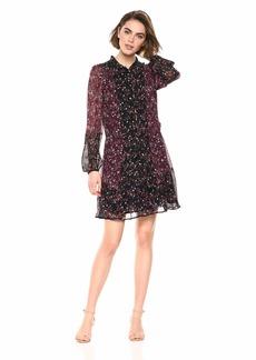 PAIGE Women's Sonoma Dress Burgundy/Purple Black Multi M