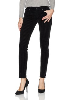 PAIGE Women's Verdugo Ultra Skinny Jeans with Velvet Striping Noir Flocked