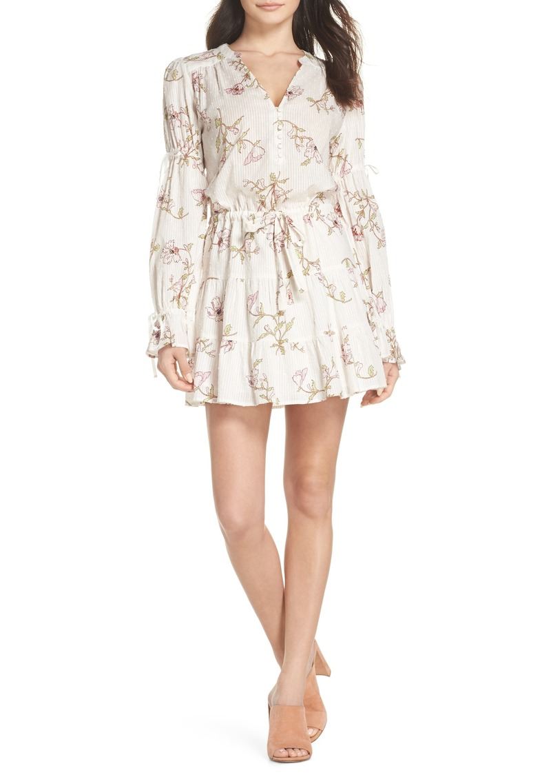 PAIGE Yardley Floral Minidress