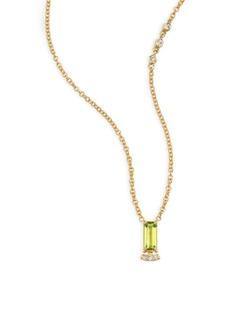 Paige Denim Powerful Pretty Things Diamond & Peridot Choker