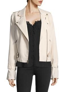 Paige Denim Rhoda Twill Moto Jacket
