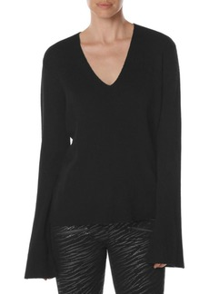 Paige Denim Rosie HW x PAIGE Darian Bell-Sleeve Wool Sweater