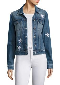 Paige Denim Rowan Embellished Seashell Denim Jacket