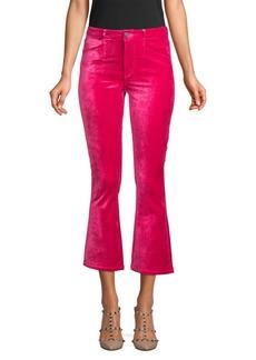 Paige Roxxi High-Rise Velvet Flare Jeans